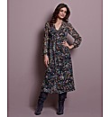 Fusions By East Spot Print Dress 45in