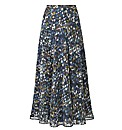 Fusions By East Print Maxi Skirt 35in