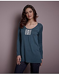 Fusions By East Embroidered Tunic