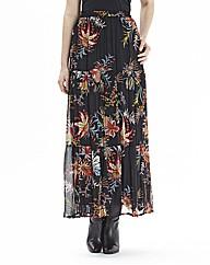 Joanna Hope Crinkle Print Maxi Skirt