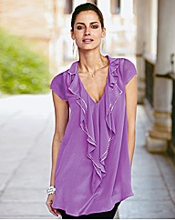 Together Frill Neck Blouse