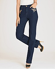 Changes By Together Embroidered Jeans