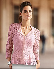 Together Peplum Lace Blouse