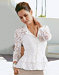 Changes By Together Peplum Lace Blouse