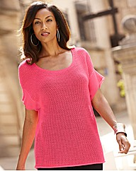 Joanna Hope Short Sleeved Knitted Jumper