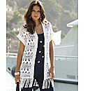 Joanna Hope Fringe Crochet Cardigan