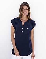 Joanna Hope Short Sleeved Jersey Blouse