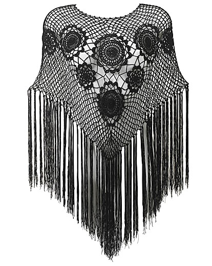 1920s Style Wraps Joanna Hope Crochet Knitted Poncho £21.00 AT vintagedancer.com