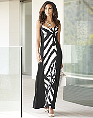 Joanna Hope Print Panel Maxi Dress