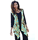 Joanna Hope Print Front Jersey Cardigan