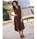 Joanna Hope Shaped Hem Belted Dress