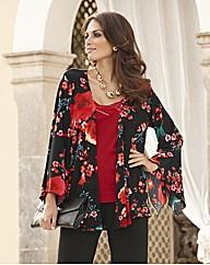 Joanna Hope Print Jersey Kimono Shrug