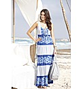 Joanna Hope Tiered Print Maxi Dress