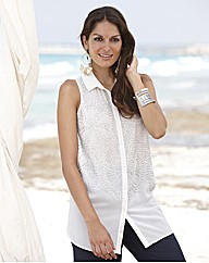 Joanna Hope Beaded Sleeveless Blouse