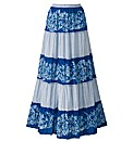 Joanna Hope Print Cotton Maxi Skirt