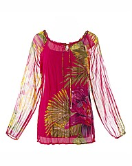 Petite Joanna Hope Print Gypsy Top