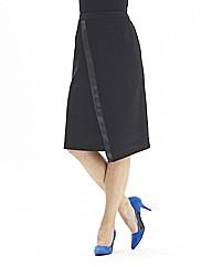 Joanna Hope Pu Trim Ponte Pencil Skirt