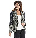 Joanna Hope PU Trim Biker Jacket