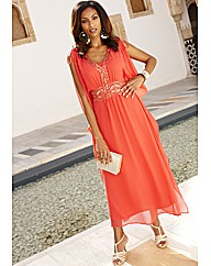Joanna Hope Beaded Kaftan Maxi Dress