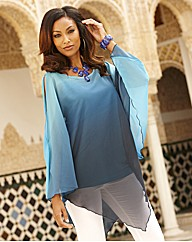 Joanna Hope Ombre Poncho Tunic and Cami
