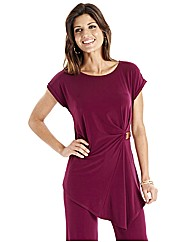 Joanna Hope Buckle Trim Jersey Tunic