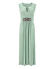 Joanna Hope Crystal Pleated Maxi Dress
