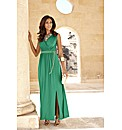 Joanna Hope Chain Belt Jersey Maxi Dress