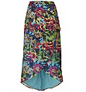 Joanna Hope Print High Low Hem Skirt