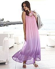 Joanna Hope Dip Dye Bead Trim Maxi Dress