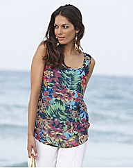 Joanna Hope Sleeveless Print Top