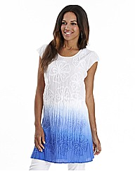 Joanna Hope Crinkle Dip Dye Dress