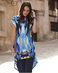 Joanna Hope Shaped Hem Jersey Tunic