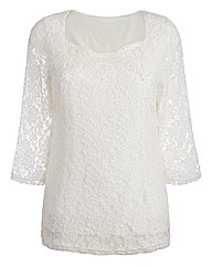 Joanna Hope Stretch Lace Top