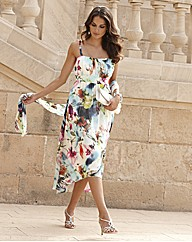 Joanna Hope Print Dress and Scarf