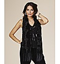 Joanna Hope Sequin Front Vest