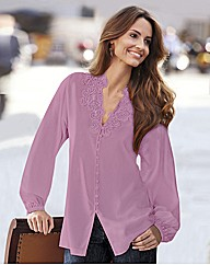 Changes By Together Lace Trim Blouse