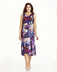 Joanna Hope Cowl Neck Print Dress