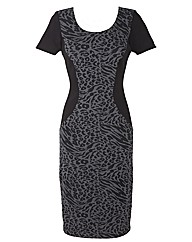 Joanna Hope Animal Jacquard Insert Dress