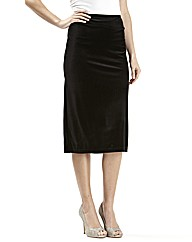 Joanna Hope Stretch Velour Pencil Skirt