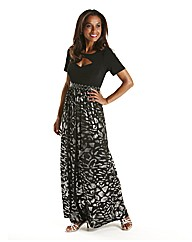 Joanna Hope Foil Print Maxi Dress