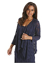 Joanna Hope Unlined Stretch Lace Jacket