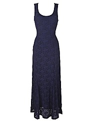Joanna Hope Lace Godet Maxi Dress