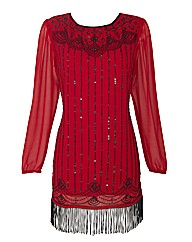Joanna Hope Beaded Fringe Tunic
