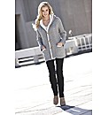 Joanna Hope Hooded Cable Knit Cardigan