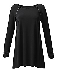 Joanna Hope Diamante Zip Detail Tunic