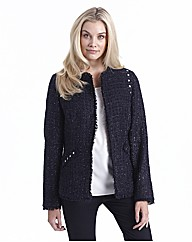 Joanna Hope Stud Trim Boucle Jacket