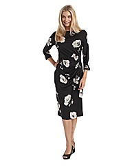 Joanna Hope Print Gather Detail Dress