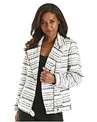 Joanna Hope Boucle Biker Jacket
