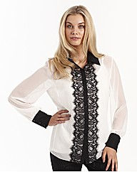 Joanna Hope Lace Trim Blouse and Cami