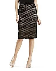 Joanna Hope Contrast Lace Pencil Skirt